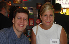 Hollis and Diary of a Wimpy Kid author Jeff Kinney at BEA 2008 in Los Angeles